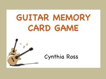 Guitar Memory Card Game