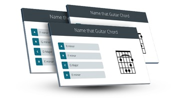 Guitar: Name that Guitar Chord - Interactive PowerPoint Game/Quiz - 40 Slides