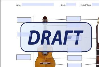 Guitar Parts Worksheet