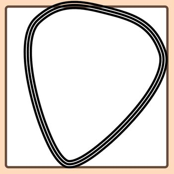 Guitar Pick Templates Clip Art Set for Commercial Use
