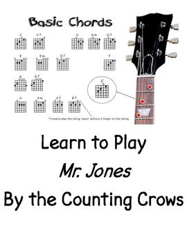 "Guitar Play-Along Video for ""Mr. Jones"" by the Counting Crows"