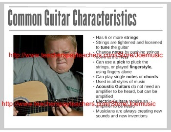 Guitar Powerpoint/ Prezi: Types of Guitars (Electric and Acoustic)