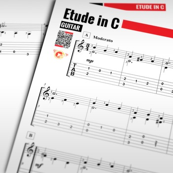 Guitar SHEET MUSIC: Etude in C - Dionisio Aguado [Classical Guitar]
