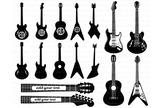 Guitar SVG, Guitar monogram svg files for Silhouette Cameo