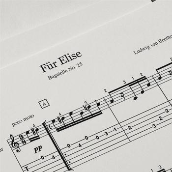 Guitar Sheet Music: Fur Elise (Ludwig van Beethoven)