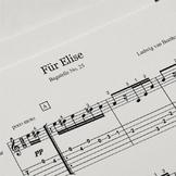 Guitar Sheet Music: Fur Elise (Ludwig van Beethoven) Interactive Sheet Music