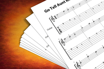 Guitar Sheet Music: Go Tell Aunt Rhodie with MP3 Play-Along Track