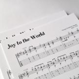 GUITAR SHEET MUSIC: Joy to the World - Christmas Carol