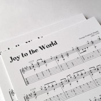 Christmas Carol Music.Guitar Sheet Music Joy To The World Christmas Carol
