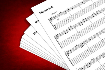 Guitar Sheet Music: Minuet in G (Johann Sebastian Bach)