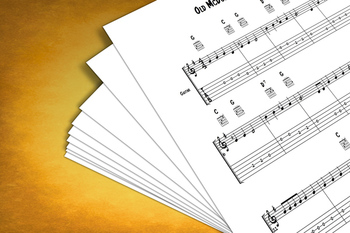Guitar Sheet Music: Old McDonald Had a Farm with MP3 Play-Along Track