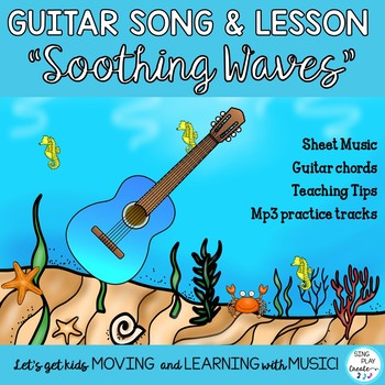 """Guitar Song in G """"Soothing Waves"""" Original and Easy 1 finger chord for Beginners"""