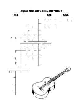 Guitar Terms Vocabulary Quiz and Puzzles Part 2