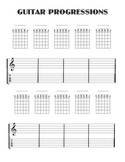 Guitar progression worksheet with Tablature...