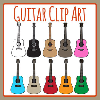 Guitars Clip Art Set Commercial Use