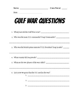 Gulf War Questions