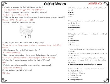Gulf of Mexico {Differentiated Close Reading Passages & Questions}