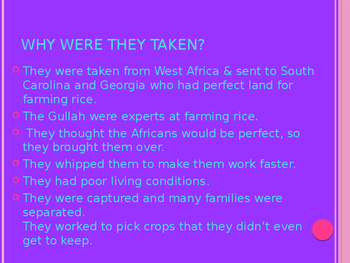 """Gullah-Geechee History for story """"In Time of the Drums"""" Folk Tale"""