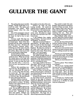 Gulliver's Travels 10 Chapter Novel with Student Activities and Answer Keys