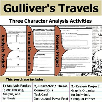 Gulliver's Travels - Character Analysis Packet, Theme Connections, & Project