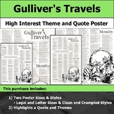 Gulliver's Travels - Visual Theme and Quote Poster for Bulletin Boards