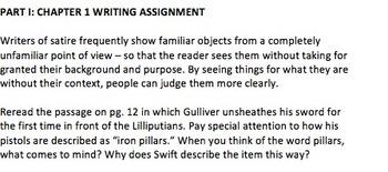 Gulliver's Travels Lecture & Lilliputians Work