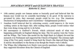 Gulliver's Travels Lecture & Lilliputians Work