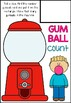 Gum Ball Count (1-10) Number Activity