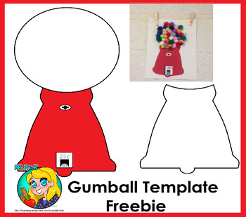 Gum Ball Craft Template Freebie