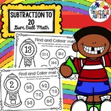 Subtraction from 20 Gum Ball Math