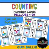 Gum Balls Counting Cards Printables | Preschool Printables