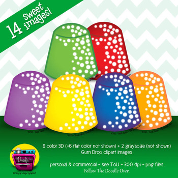 Sugar Gum Drops Clipart - Set 2