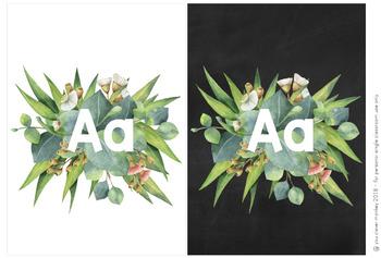 Gum Leaf Editable Alphabet Posters