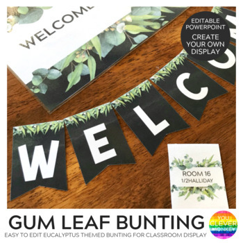 Gum Leaf Editable Bunting