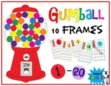 Gumball Themed 10 frames Numbers 1-20 (Inspired by mini erasers!)