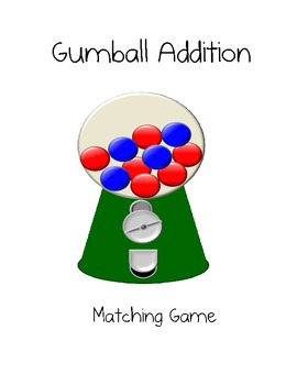 Gumball Addition Matching Game