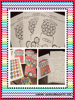 Gumball Addition Math Facts for Math Centers