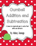 Gumball Addition and Subtraction Math Center