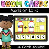 Gumball Addition to 10 - Digital Task Cards - Boom Cards