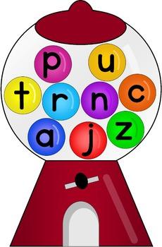 Gumball Alphabet Bingo Game