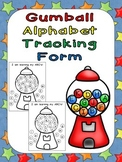 FREE Gumball Alphabet Tracking Form- Kindergarten Assessment Self-Monitoring