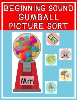 Gumball Beginning Sound Sort
