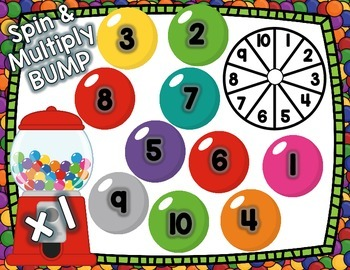 Gumball Bump Multiplication 3rd Grade 1-10