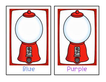 Gumball - Color Sorting Mats - 10 mats!