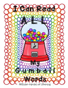 All Gumball Sight Words Book