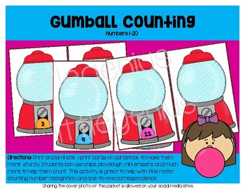 Gumball Count, 1-20