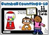 Gumball Counting 0-10 ~ BOOM Cards ~ Distance Learning