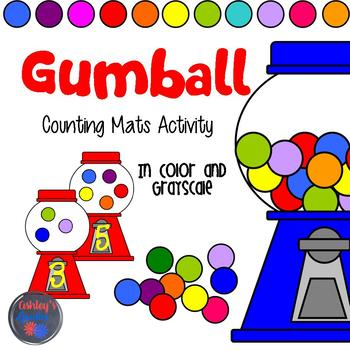 Gumball Counting 1-10 Mats Activity