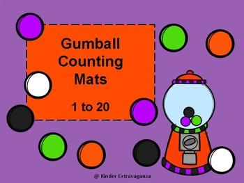 Gumball Counting Mats 1-20