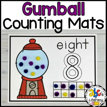 Gumball Counting Mats #1-20